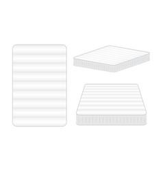 Comfortable mattress for sleeping vector