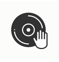 dj disk jockey turntable icon vinyl record disco vector image vector image