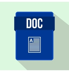 DOC file icon flat style vector