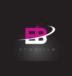 eb e b creative letters design with white pink vector image