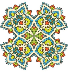 Ethnic Fractal Mandala Meditation looks like vector image