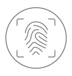 Fingerprint scanning line icon vector image
