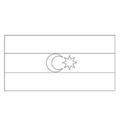 Flag of azerbaijan 2009 vintage vector