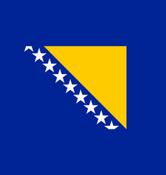 Flag of bosnia and herzegovina official colors and vector