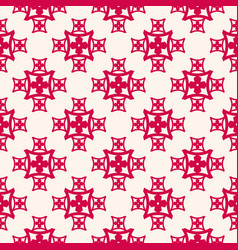 floral seamless pattern red and beige abstract vector image