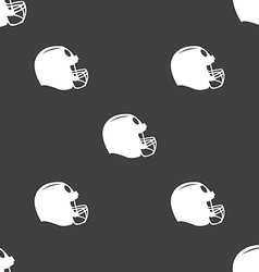 football helmet icon sign Seamless pattern on a vector image