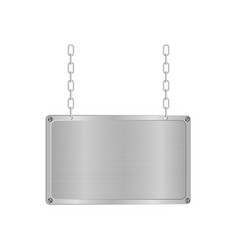 Frame of metal on aluminium plate vector