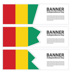 guinea bissau flag banners collection vector image
