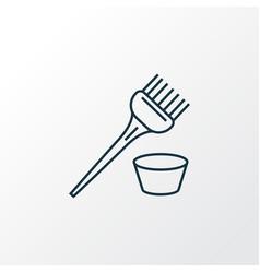 hair dye brush icon line symbol premium quality vector image