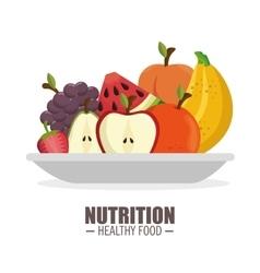 harvest ripe frflatt nutrition healthy food design vector image