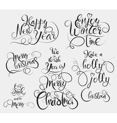 Have a Holly Jolly Christmas Enjoy winter time vector