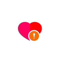 heart warning icon vector image