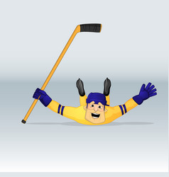 Ice hockey team sweden player vector
