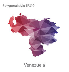 isolated icon venezuela map polygonal vector image