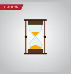 Isolated sandglass flat icon measurement vector