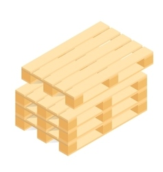 Isometric wooden pallet vector