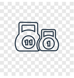 kettlebells concept linear icon isolated on vector image