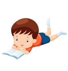 Kids reading book vector