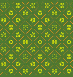 Line flower geometric seamless pattern 7608 vector