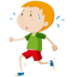 Little boy running alone vector image