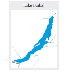map russian lake baikal vector image