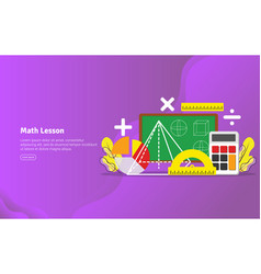 math lesson concept educational and scientific vector image