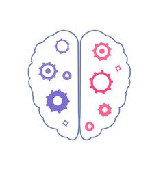 Mental health human brain vector