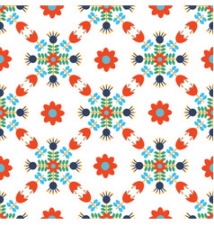 modern scandi daisy floral seamless pattern vector image