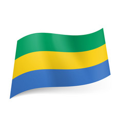 national flag of gabonese republic green yellow vector image