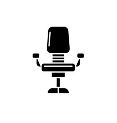 office chair black icon sign on isolated vector image