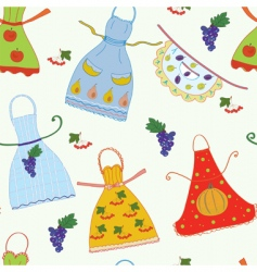 pattern with aprons vector image