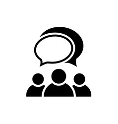people talking icon group of people symbol vector image