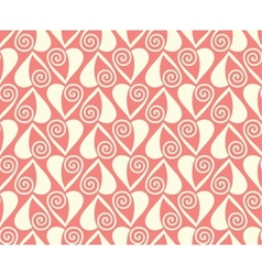 pink hearts seamless pattern valentines background vector image