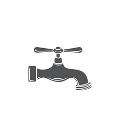 Plumbing tap glyph icon vector