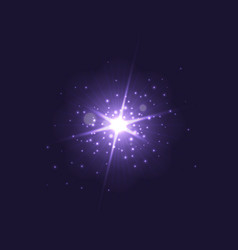purple glowing light burst explosion on dark vector image