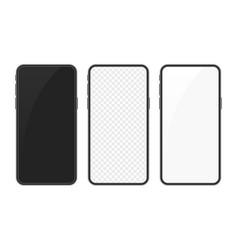 realistic smartphone mockup set vector image