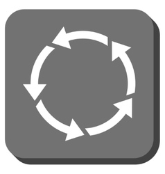 Rotation Rounded Square Icon vector