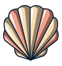 shell icon cartoon style vector image