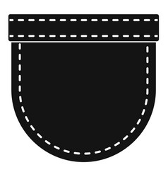 shirt pocket icon simple style vector image