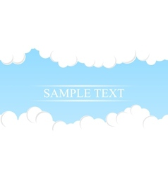 Simple Sky Background vector image