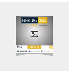 Social media furniture sale template vector
