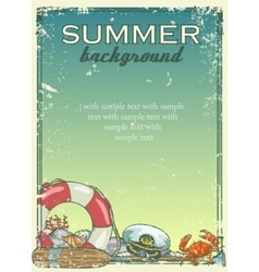 Summer beach background with sample text vector image
