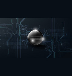 Technology futuristic abstract system digital vector