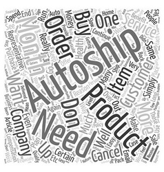 The myth of autoship text background wordcloud vector