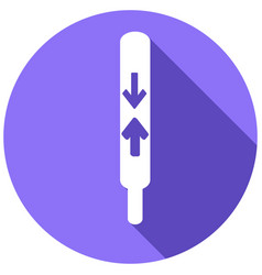 Thermometer icon with a long shadow vector