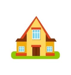 Three Windows Suburban House Exterior Design vector image vector image