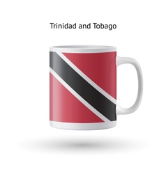 Trinidad and Tobago flag souvenir mug on white vector