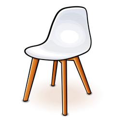 White hull chair cartoon vector