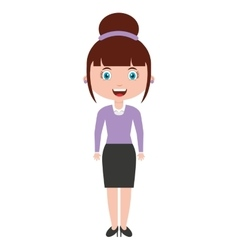 woman female teacher character vector image