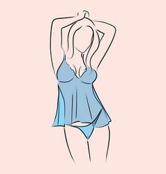 Woman in lingerie vector